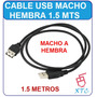 Cable Usb Macho A Hembra 1,5 Metros Usb 2.0 Ideal Pen Drives