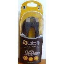 Cable Usb Abit Pro Series 3mts Para Play3 Mp3 Mp4 Celulares
