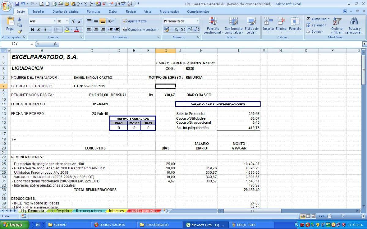 Calcular Finiquito Gratis Finiquito Calculadora De ...