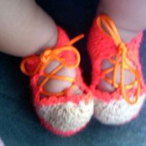Hermosos Zapatos Tejidos Para Bebe