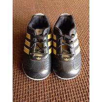 Zapatos Adidas Para Bebé Originales Negros/ Dorados Talla 20