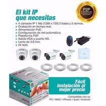 Kit Profesional De 4 Camaras Ip + Nvr Marca Digiplex