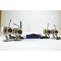 Kit 4 Mini Camaras 420tvl, Video A Color Y Audio 2.4g