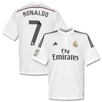 Camisa 2015 Real Madrid Local Ronaldo Y Bale Con Botones