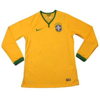 Camisetas De Fútbol Manga Larga Brasil España Italia 2014