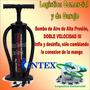 Bomba De Inflar Doble Accion I I I Intex Globos Colchon Bote