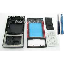 Carcasa Nokia X3 Negra Con Roja Full Completas Carcaza X3