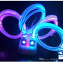 Cable Usb Led Multi Colores Para Android Micro Iphone 4.5.6