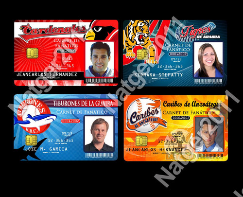 Carnet En Pvc Del Fanático De La Lvbp, Béisbol,personalizado