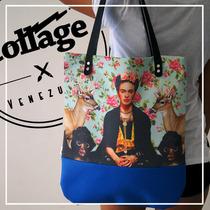 Cartera Bolso Frida Kahlo Para Dama Collage Originales