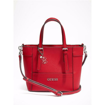 Cartera Guess Mini Tote Roja Nueva Original