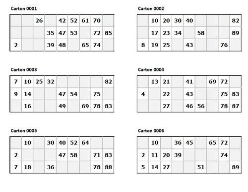 Cartones De Bingo En Pdf Para Imprimir - Bs. 100,00 en MercadoLibre