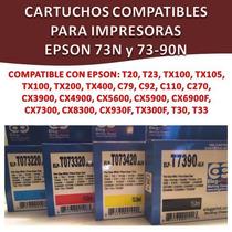 Cartucho Compatible Impresora Epson 73 90 Cx5600 Tx100 Tx200