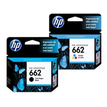 Combo De Cartuchos Hp 662 Negro Y Color Originales