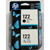 Combo Cartuchos Originales Hp 122 Negro Y Color Ch561cl