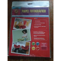 Papel Fotografico Carta Office Line 210 Grs X 20 Unid