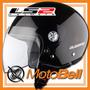 Casco Ls2 Midway Negro Brillante Moto Calle Certificado