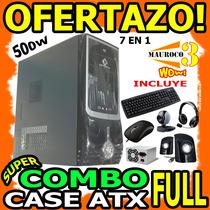Wow Combo Case Atx 7en1 Fuente,mouse,teclado,camara,cornetas