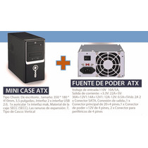 Case Para Pc Atx Y Fuente Poder 600w Atx 2usb Audio Frontal
