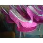 Centro De Mesa Recuerdo 15 Anos Zapatillas