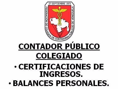 Certificación De Ingresos - Balance Personal (cagua)
