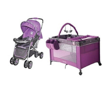 Combo Coche Reversible Corral Cuna Cutebabies