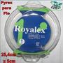 Pyrex Para Pie / Envase Vidrio Redondo Royalex 26cm Diametro