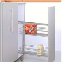 Condimentero P/ 15cm Con Freno Herrajes Accesorios Cocinas
