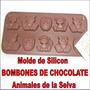 Molde Silicon Bombones Chocolate Jabones Animal Granja Selva