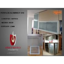 Perfil De Aluminio Para Puertas Y Muebles Modelo F-010