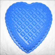 Molde Silicon Torta Gelatina Quesillo Pie Corazon 24x23x4 Cm