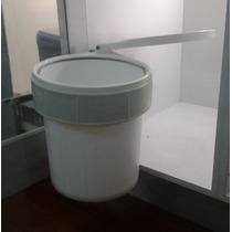 Cesta Tobo Papelera Empotrable Basura Blanco Plástico 15 L