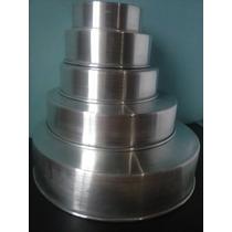 Juego De 5 Torteras Moldes Para Tortas De Aluminio 5 Piezas