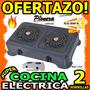 Wow Cocina Electrica 2 Hornillas 2200w Pionera Cavegas Unica