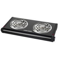 Cocina Eléctrica Black & Decker Db1002b - 2 Hornilla - Negra