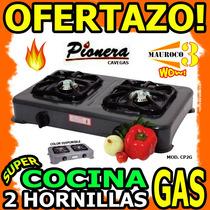Wow Cocina 2 Hornillas A Gas Pionera Cavegas Excelente Wow