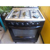 Cocina A Gas Mabe 6 Hornillas Y Horno Funcional Color Negro