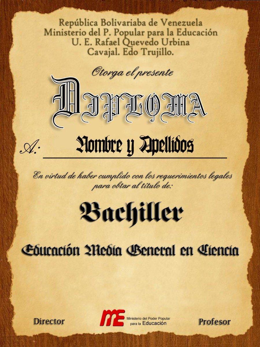 Colección De Plantillas Para Diplomas Editables Con Photosho - BsF ...