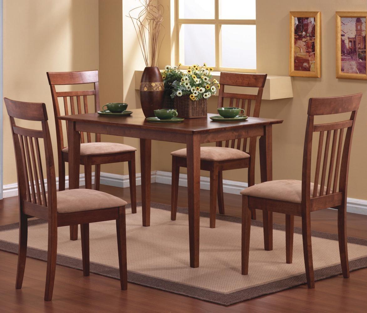 comedor rectangular sillas de lujo madera coaster bs en ms