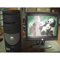 Cpu Y Monitor Pentium Iv,monitor Lcd, Usado