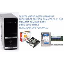 Computador Dual Core 2.4ghz + 4gb Ram + Dd 500gb + Monito Tv