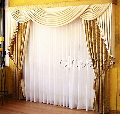 Cortinas y cenefas para sala imagui for Modelos de cenefas para cortinas