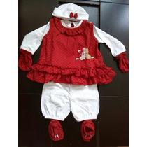 Conjunto De Bebe Vestido Niña Canastilla Ropa De Bebe