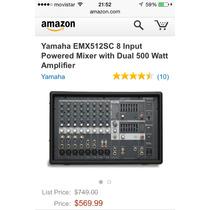 Consola Amplificada Yamaha Emx512 Nueva