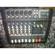 Consola Amplificada 6 Canales Profesional Nippon Dj