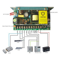 Fuente De Poder 12v 5a Ups Control De Acceso Cámaras Batería