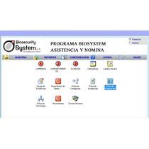 Programa Biometrico Acceso, Asistencia Y Nomina Biosystem