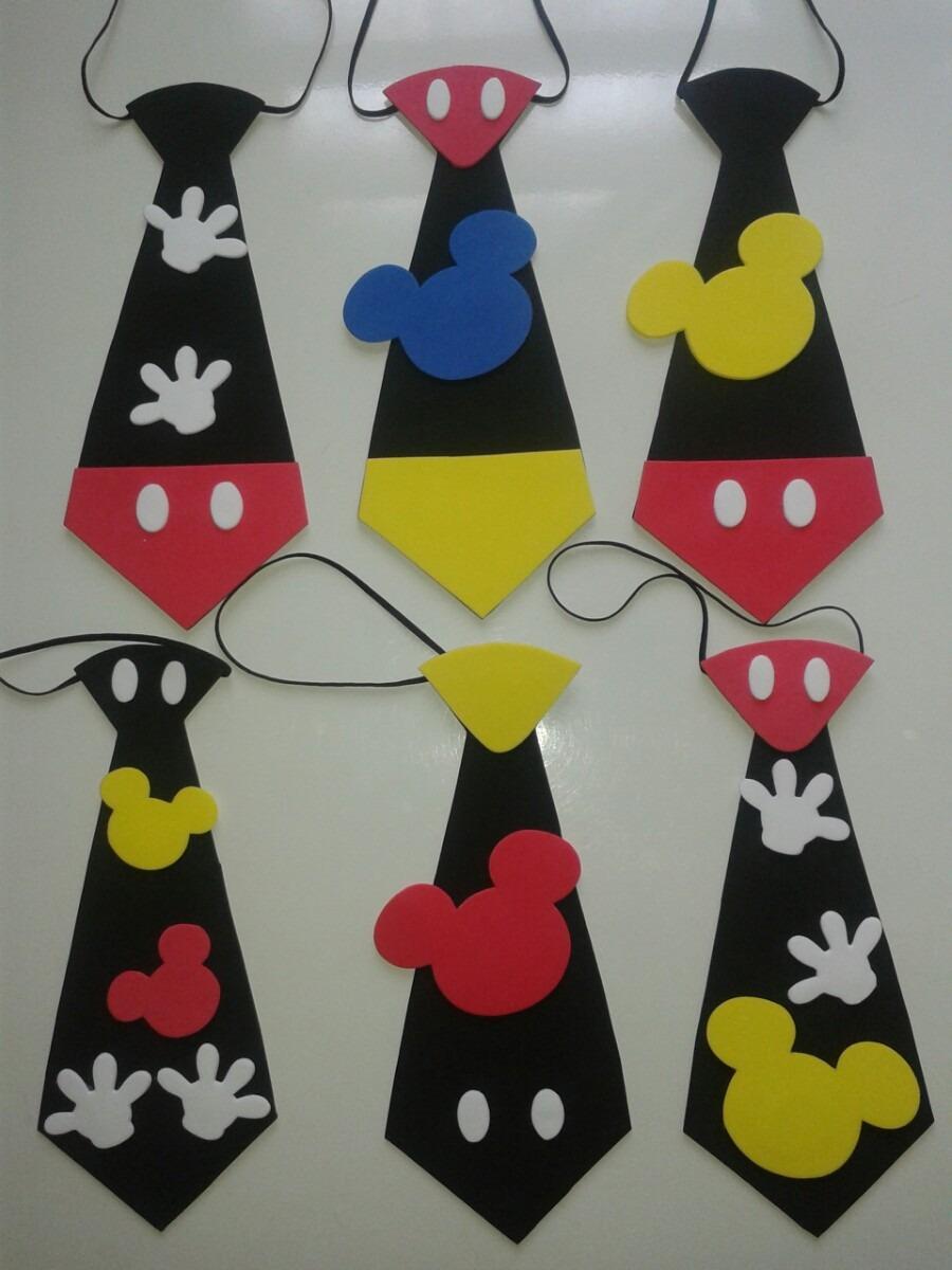 Corbatas De Mickey En Foami Cotillones - Bs. 250,00 en MercadoLibre
