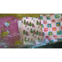 Cobijas,mantas Para Bebes Reversibles En Algodon Estampado