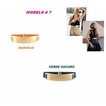 Cinturones Dorados Para Dama Metalicos Moda Placas 2016